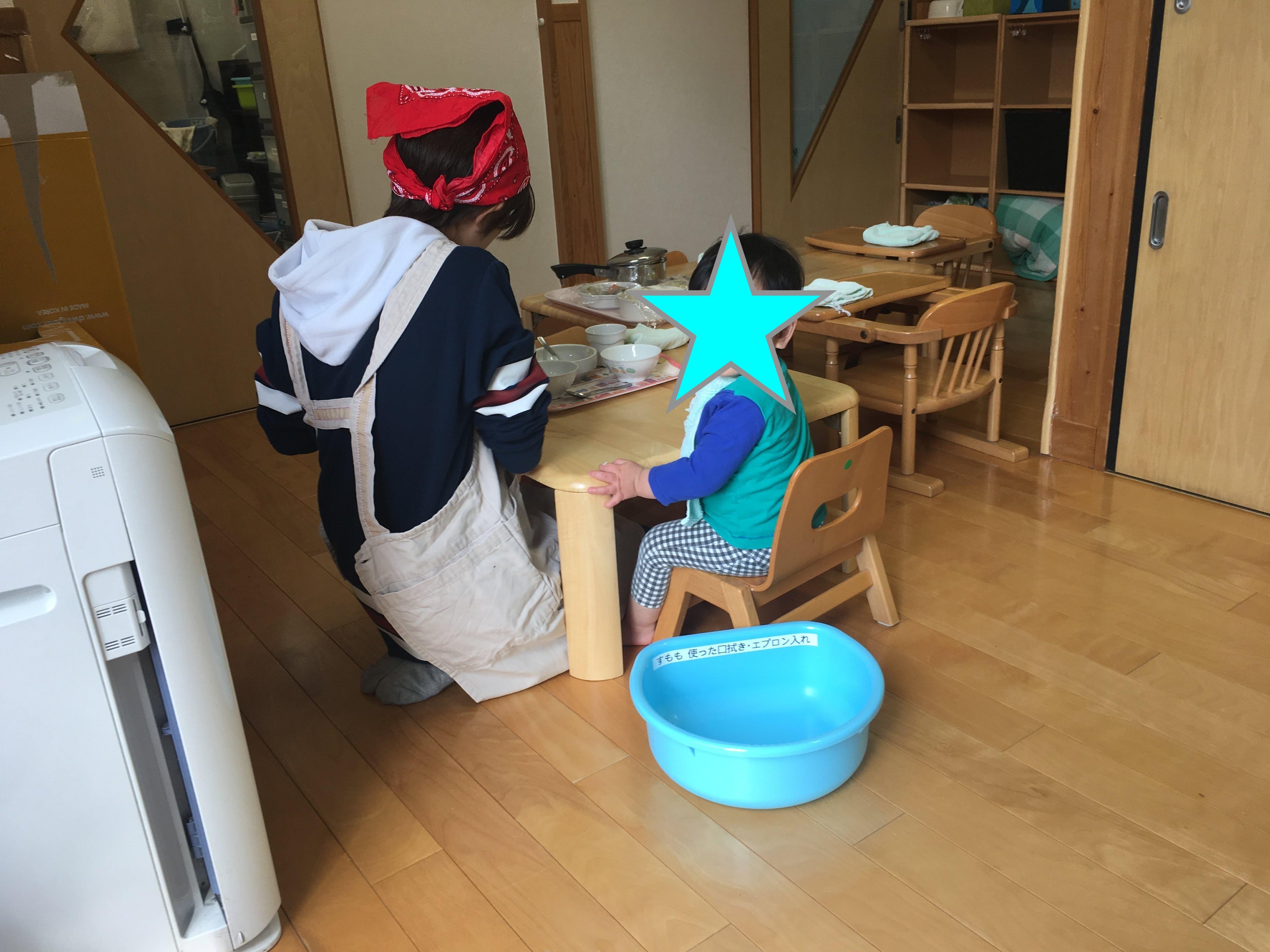 0-1歳児保育室 食事